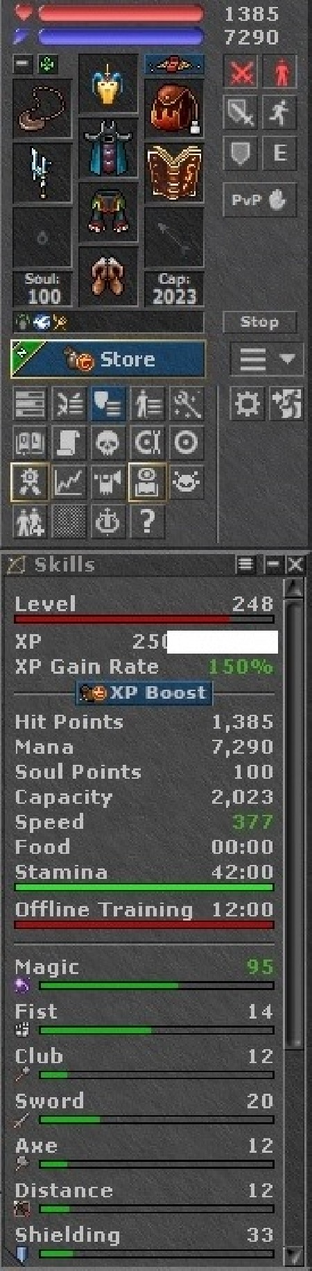 Tibia Character Open-PvP ~248 ED