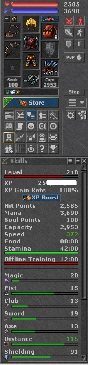 Tibia Character Open-PvP ~248 RP