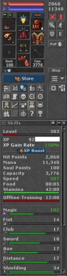 Tibia Character Open-PvP ~383 MS