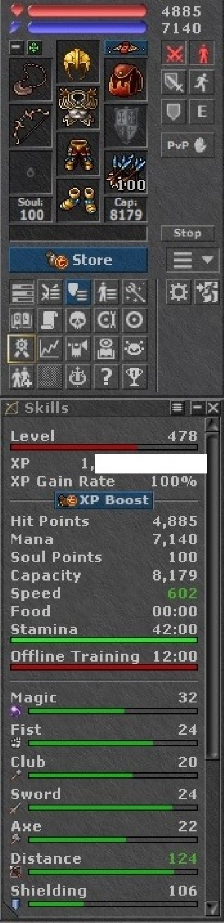 Tibia Character Open-PvP ~478 RP
