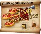 Tibia Coins - You will receive 750 Tibia Coins
