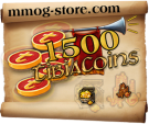 Tibia Coins - You will receive 1500 Tibia Coins
